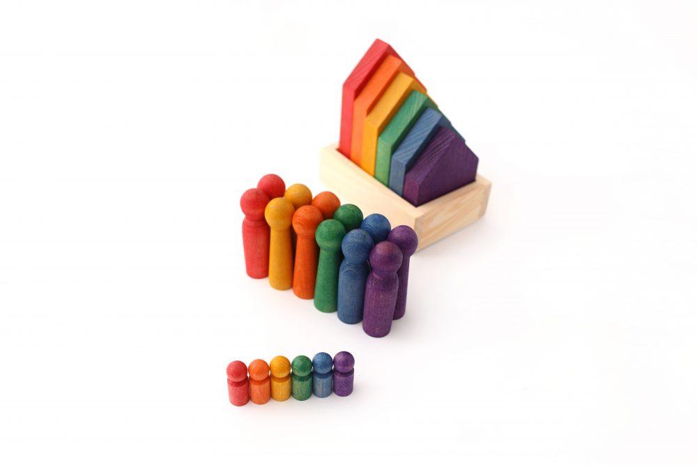 sorter kolorów domki