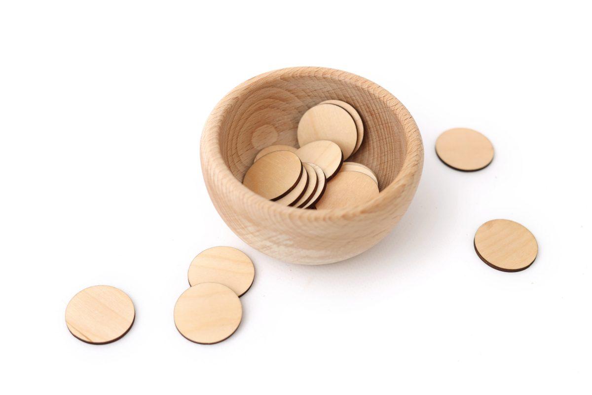 monety sklejkowe
